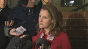 Freeland says she's been talking CUSMA with U.S., Mexico throughout fall and summer