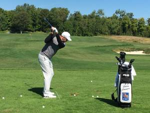 Canadian pro Corey Conners tees off at Wildfire Golf Club