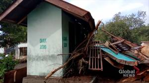Indonesia flash floods caused by tropical cyclone Seroja leave over 70 dead, dozens missing (01:14)