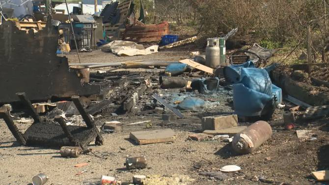 Click to play video: Unsafe conditions and destructive fire at the Strathcona park tent city