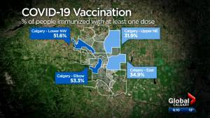 Alberta government looking to address regions with low vaccination rates (02:03)