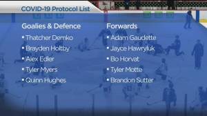 Multiple players and coaches on Vancouver Canucks COVID-19 protocol list (04:53)