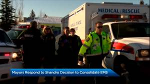 Alberta mayors to comment on decision to consolidate EMS dispatch (02:21)