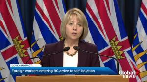 Province of B.C. begins to release more than 900 foreign workers from two week quarantine