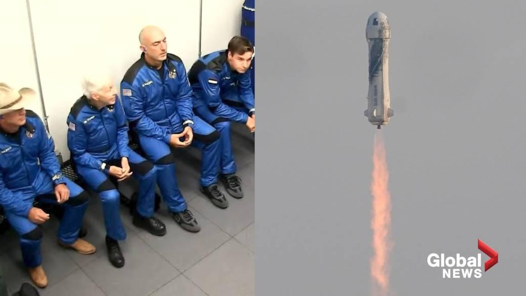 Jeff Bezos, Amazon founder, returns to Earth after Blue Origin space flight    Globalnews.ca