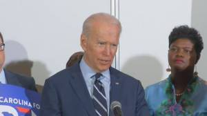 Biden thanks South Carolina lawmaker for endorsement, says people looking for security