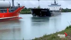 2 ships collide head-on in Welland, Ont.