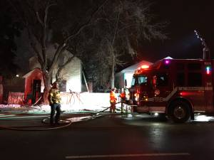 Fire breaks out early Tuesday at vacant home in central Edmonton