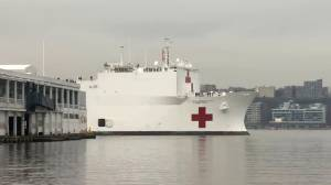 Coronavirus outbreak: Hospital ship USNS Comfort arrives in New York City
