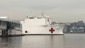 Coronavirus outbreak: Hospital ship USNS Comfort arrives in New York City