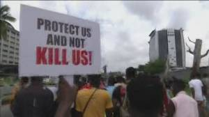 Protests rage on in Nigeria over police brutality (02:38)