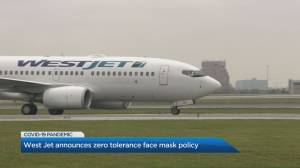 WestJet implements 'zero tolerance' mask policy that could result in year-long ban (02:09)