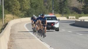 Cops for Kids cyclists begin fundraising trek (02:09)