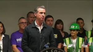 California governor says state working to be prevent more serious wildfires