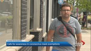 Coronavirus: Toronto man claims he faces discrimination over face masks