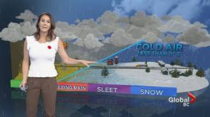 B.C. evening weather forecast: Nov 6