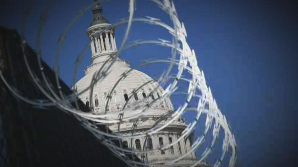 Click to play video: 'Threat of new violence puts U.S. Capitol on high alert'