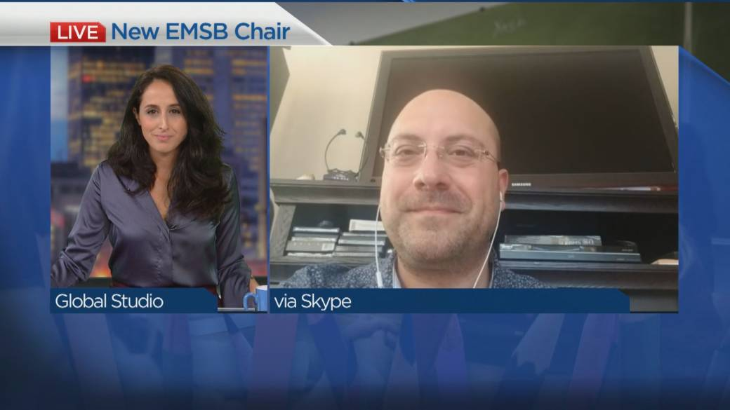 Click to play video 'Meet the EMSB's new chair'