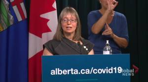 Alberta not offering 3rd COVID-19 dose at this time, Hinshaw stresses importance of 2 jabs (01:16)