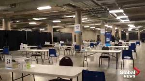 Take a look inside Hamilton's mass COVID-19 vaccination clinic at FirstOntario Centre (03:10)