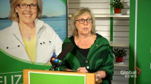 Federal Election 2019: Elizabeth May says Liberals must 'stop pandering to climate deniers' (03:18)