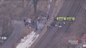 Protesters set up rail blockade in Toronto, Milton GO train line suspended