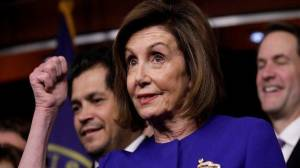 Nancy Pelosi hails 'threshold in American history' before impeachment vote