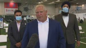 'This isn't over,' Doug Ford says as Ontario heads to stage 3 of reopening (00:30)