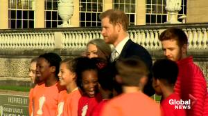 Prince Harry makes first public appearance since stepping back from senior royal duties