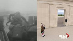 British Normandy Memorial opens on D-Day anniversary (03:07)