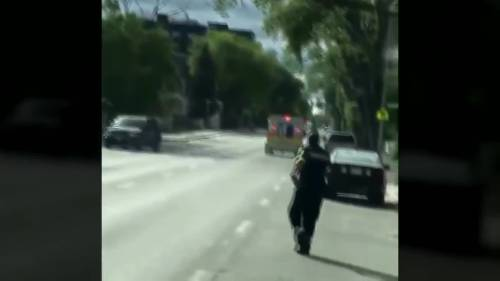 Naked man steals ambulance after paramedics stop to provide aid | Watch News Videos Online
