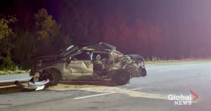 Driver extricated following collision on Hwy. 401 near Grafton (00:37)