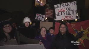 Pipeline protesters camp outside Peterborough MP's office