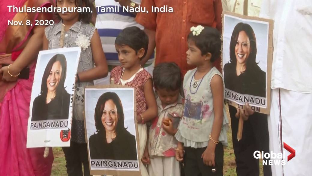 Click to play video 'U.S. election: Kamala Harris' ancestral village, uncle in India celebrates VP win'