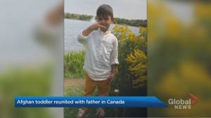 Afghan toddler and father reunited in Canada (02:04)