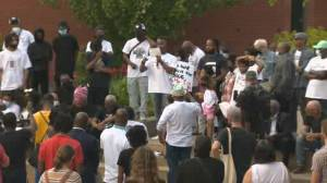 Vigil held for Black man shot and killed by police in Quebec (02:38)