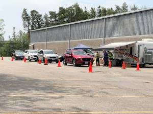 Drive-thru COVID-19 testing opens at Kinsmen Civic Centre
