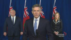 Coronavirus: Ontario finance minister to outline province's full recovery plan on Nov. 5 (00:30)