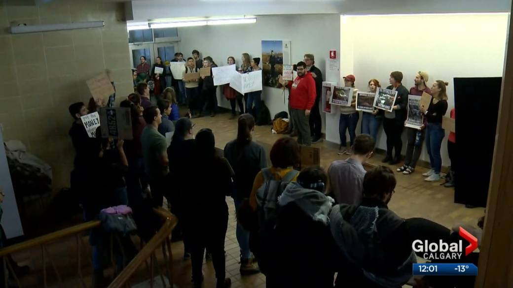 University of Calgary students protest proposed tuition hikes