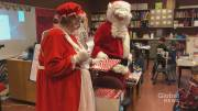 Play video: Christmas came early for students whose library was vandalized