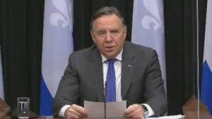 Coronavirus: Quebec premier defends police fining homeless people amid curfew (01:07)