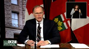 Ontario COVID-19 modelling shows high-level cresting of cases, but ICUs and workplace mobility still pose major issues (01:11)