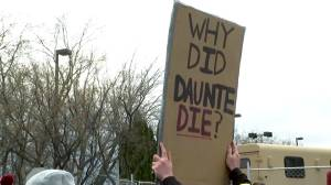 Protests continue over Daunte Wright shooting as potential charges loom (01:38)