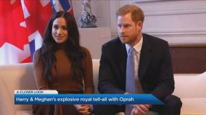 A royal breakdown of Prince Harry and Meghan Markle's tell-all interview (04:14)