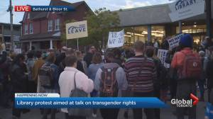 Meghan Murphy draws hundreds of protestors at Toronto appearance