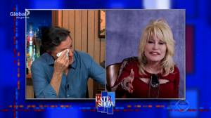 Dolly Parton sings, bring Colbert to tears on 'The Late Show' (01:51)