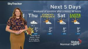Global News Morning weather forecast: March 31, 2021 (01:51)