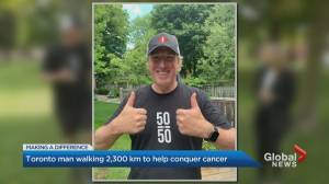 Toronto man set to walk 50 km in 1 day to help fight cancer (02:32)