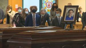 Funeral service for the Traynor family took place in Oshawa, Ont. this morning