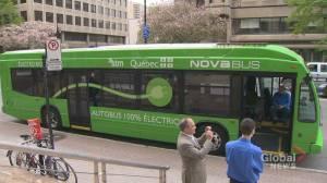 Valérie Plante unveils Montreal's ambitious electric transportation strategy (01:55)